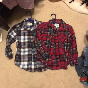 Children's place flannel polo tops size 4T